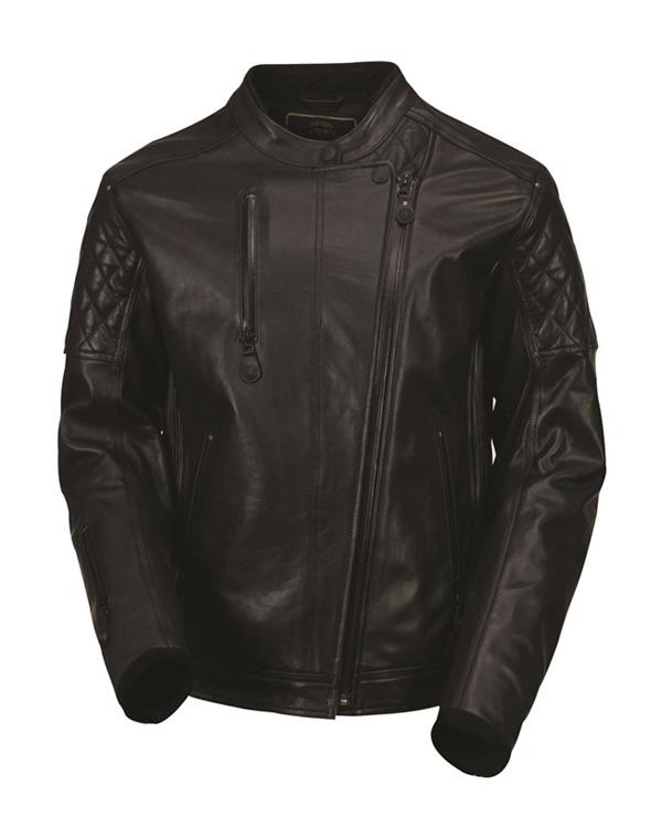 クラッシュレザージャケット ブラック OPS