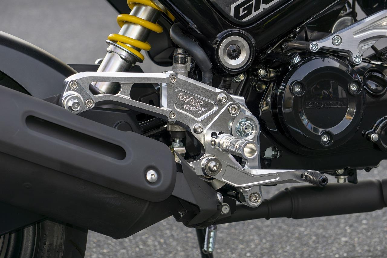 オーヴァーレーシング バックステップ 4POS ブラック GROM 21-