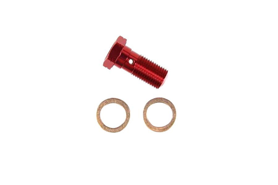 スウェッジライン BANJOボルト RED 10mm-1.00 シングル