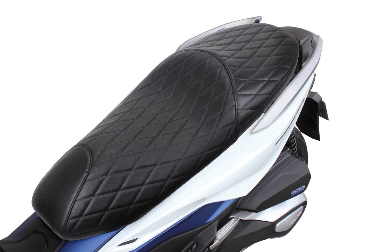 スペシャルパーツタケガワ クッションシートカバー(ダイヤモンドステッチ ブラック フォルツァ250(MF13/MF15)