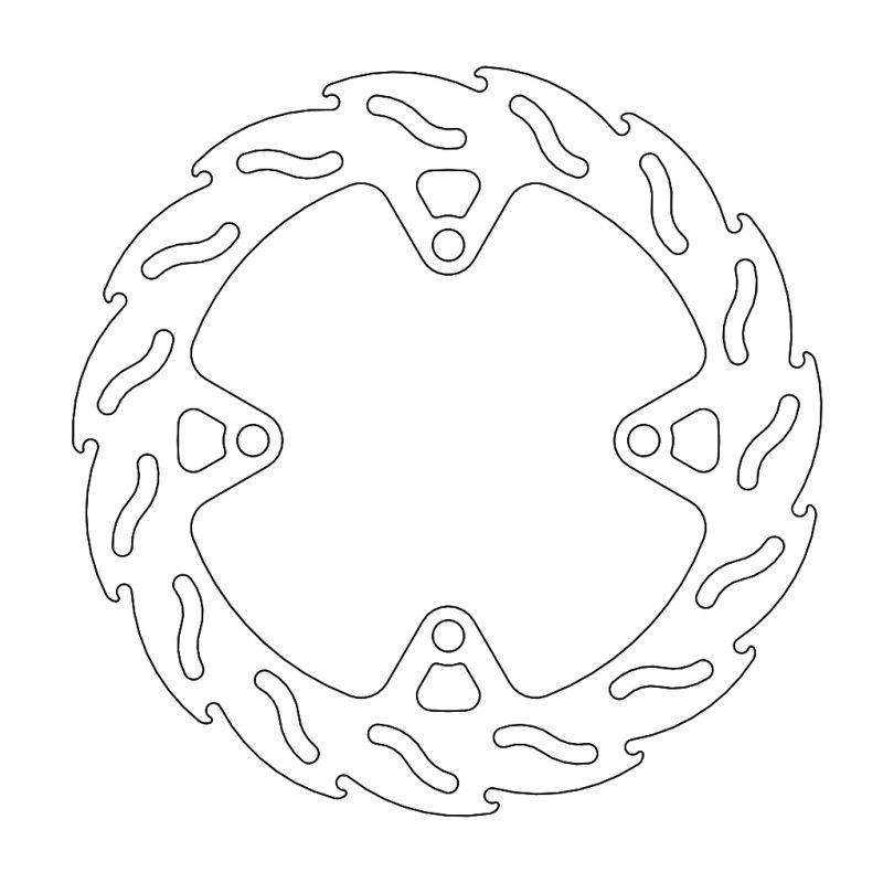 モトマスター フレイム ステンローター φ250 6mm R)NINJA1000 17-19/Z1000 14-16