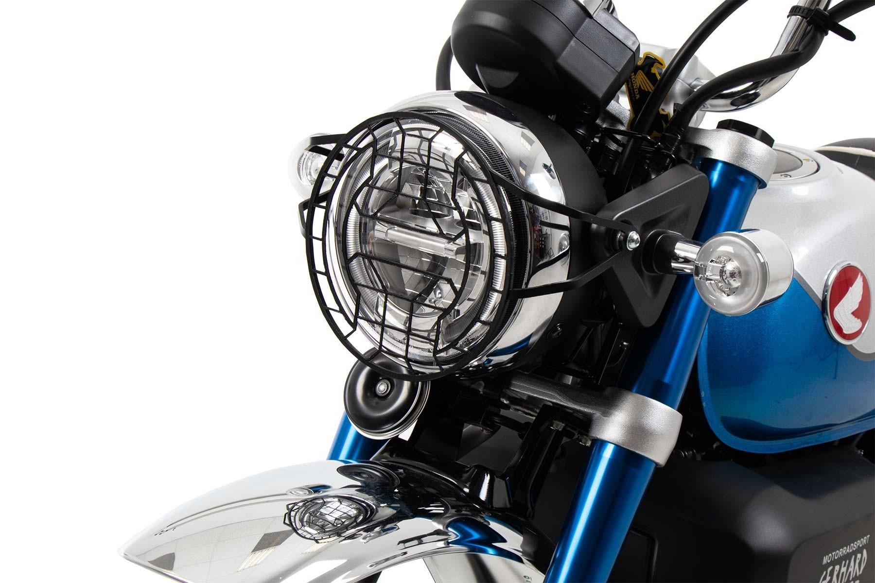 ヘプコアンドベッカー ヘッドライトグリル ブラック Monkey125 19-21