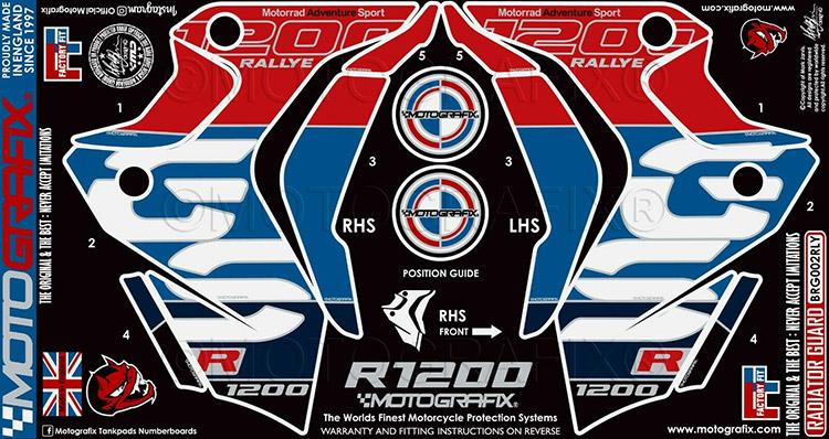 モトグラフィックス Number Board Protector BMW R1200GS Rallye Edition 17-18