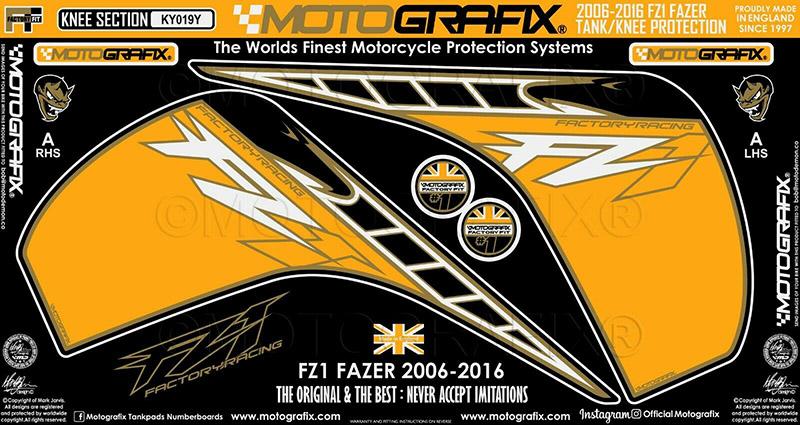モトグラフィックス ボディパッド KNEE FZ1/Fazer 06-16