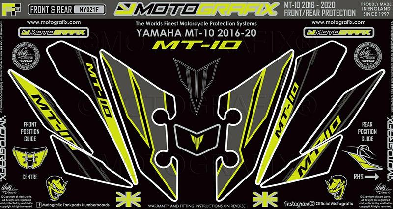 モトグラフィックス ボディパッド FRONT MT-10 16-20