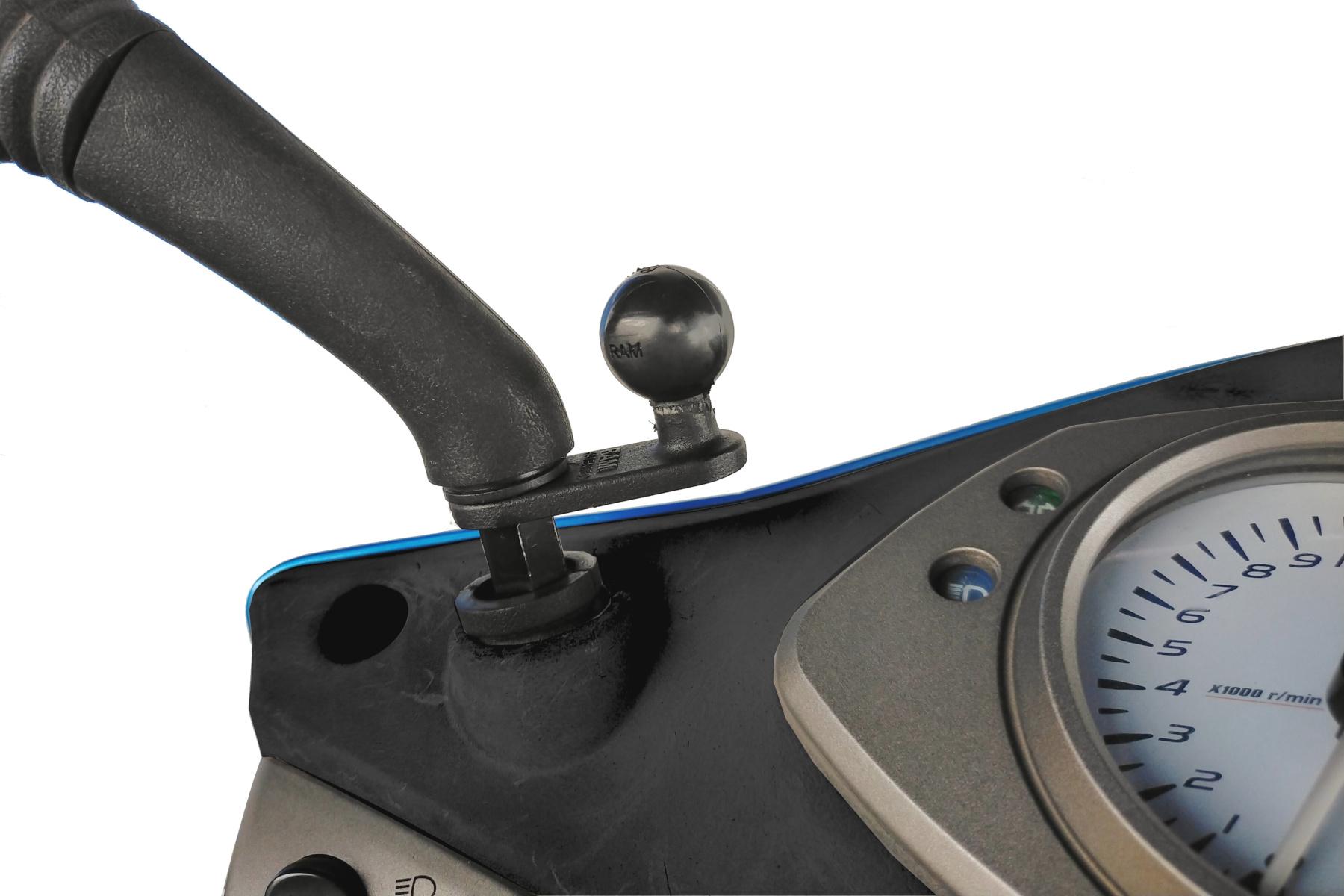 ラムマウント Xグリップ&ミラーフレームセット 11mm穴用 スマートフォン用 ショートアーム 1インチボール RAM-PL4