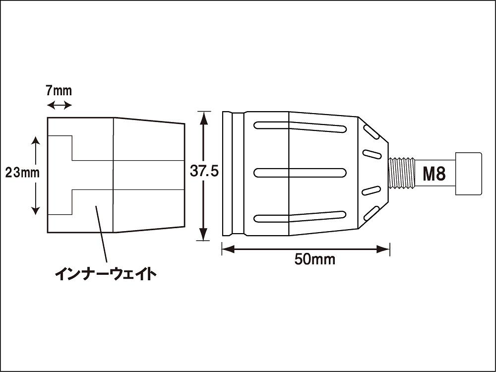 ポッシュフェイス ウルトラヘビーバーエンドT2 マットブルー カワサキヨウ M8
