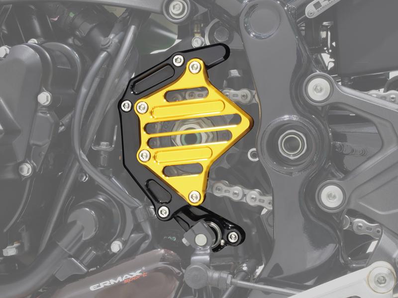 ポッシュフェイス スプロケットカバーフルキット ブラック/ゴールド Z900RS/CAFE 18-21