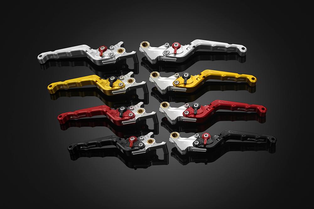 バイカーズ 可倒式ADJ レバーセット シルバー GROM 13-21 MONKEY125 18-21 CB250R/CB125R 18-21