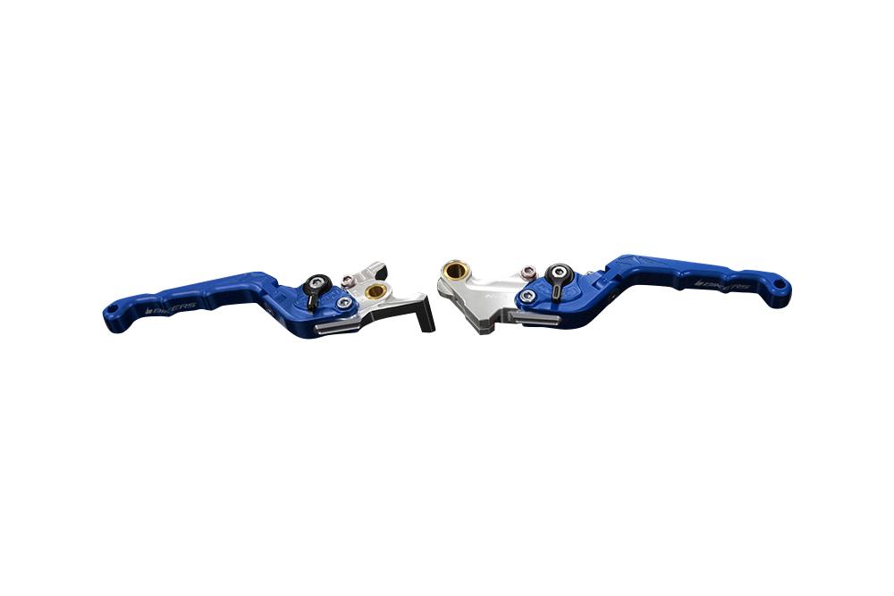 バイカーズ 可倒式ADJ レバーセット ブルー GROM 13-21 MONKEY125 18-21 CB250R/CB125R 18-21