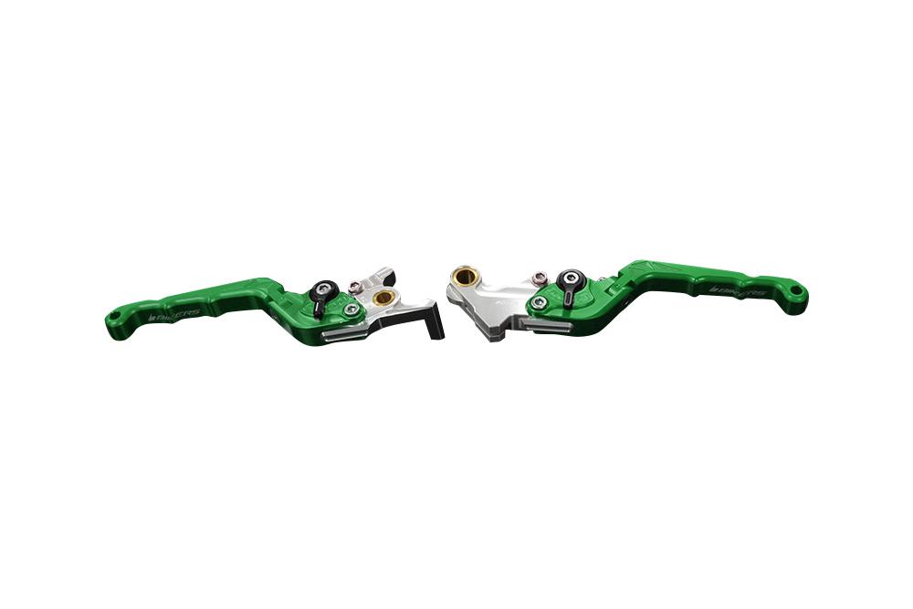 バイカーズ 可倒式ADJ レバーセット グリーン GROM 13-21 MONKEY125 18-21 CB250R/CB125R 18-21