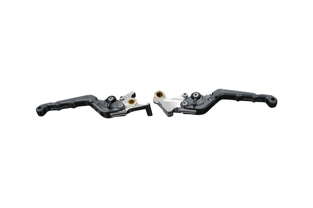 バイカーズ 可倒式ADJ レバーセット グレー GROM 13-21 MONKEY125 18-21 CB250R/CB125R 18-21