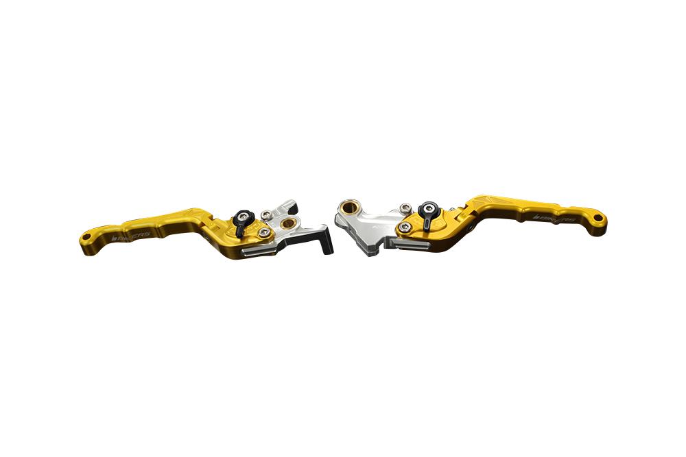 バイカーズ 可倒式ADJ レバーセット L.GLD GROM 13-21 MONKEY125 18-21 CB250R/CB125R 18-21