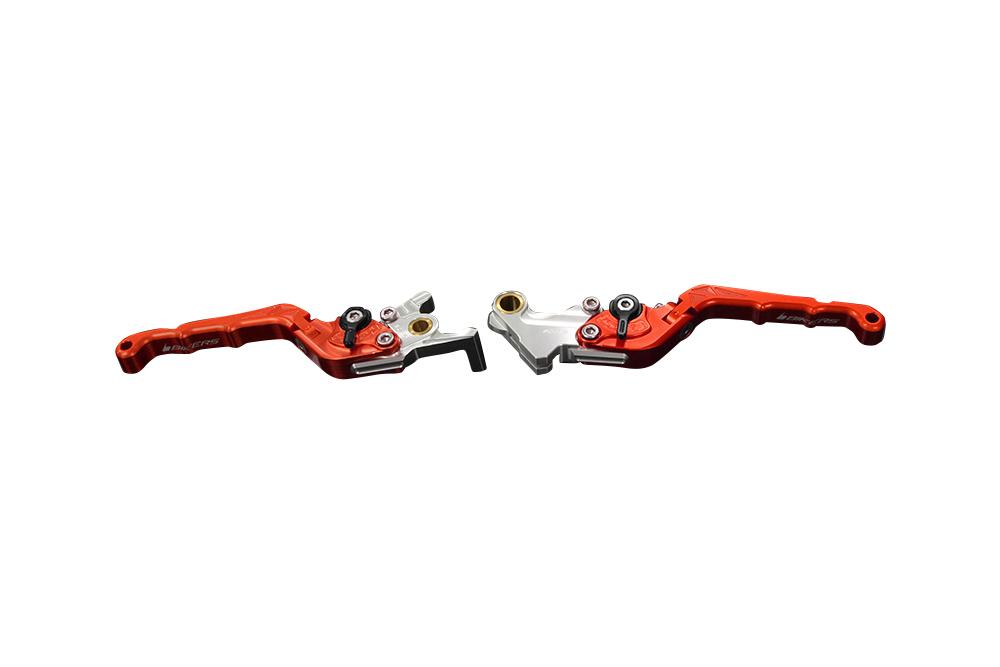 バイカーズ 可倒式ADJ レバーセット オレンジ GROM 13-21 MONKEY125 18-21 CB250R/CB125R 18-21