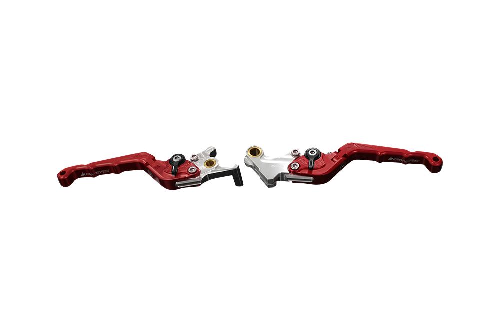 バイカーズ 可倒式ADJ レバーセット レッド GROM 13-21 MONKEY125 18-21 CB250R/CB125R 18-21