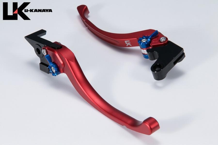 ユーカナヤ レバーセット ツーリング RD/BL (ツヤケシ) GSR250/S/F