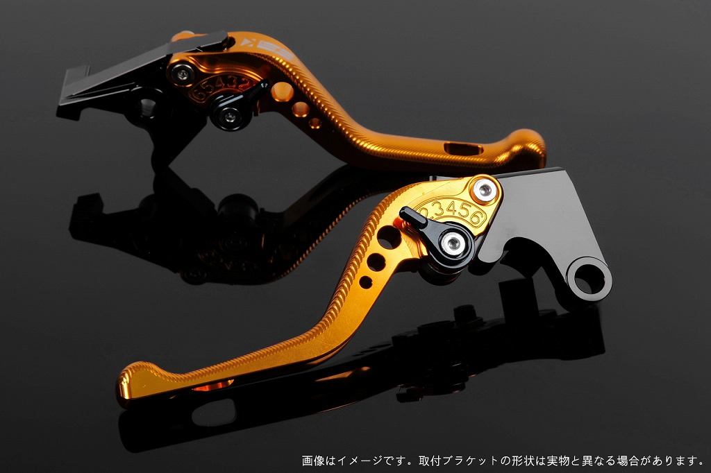 エスエスケイ スピードラ アジャストレバー 3Dショート ゴールド/ブラック CBR250R MC41 CBR400R NC47