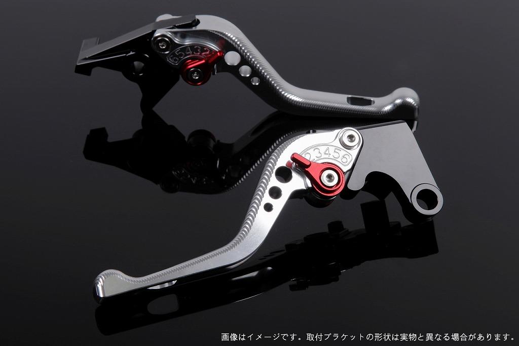 エスエスケイ スピードラ アジャストレバー 3Dショート シルバー/レッド CBR250R MC41 CBR400R NC47